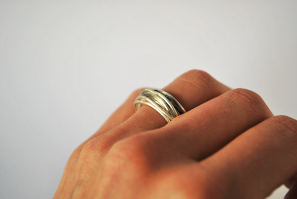Wired ring in Earthy Style Band
