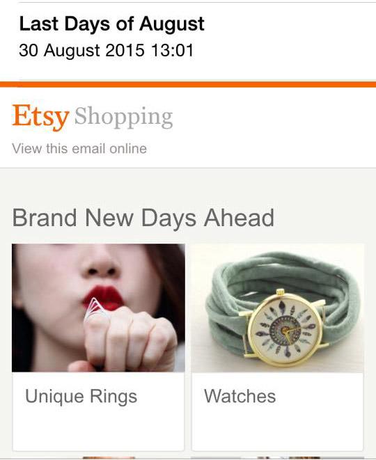 www.etsy.com Newsletter