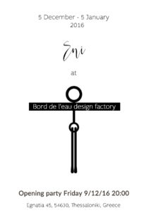 Eni Jewellery at Bord de l'eau design factory