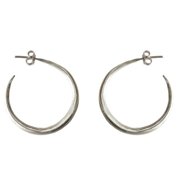 Medium Silver Hoop Earrings