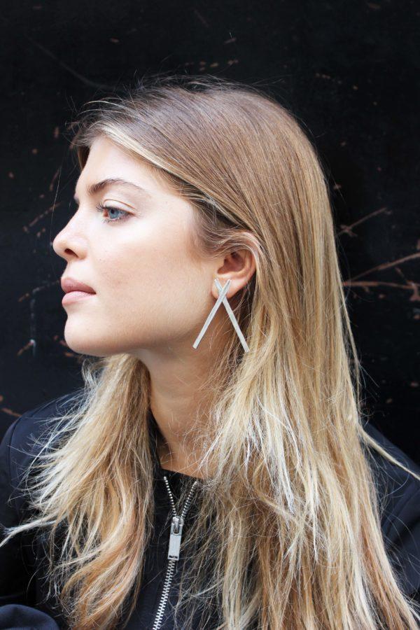 Big X Earrings