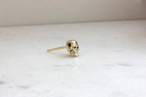 Gold Skull Stud