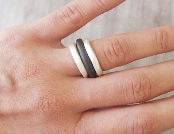 Fine Silver Chenier Ring