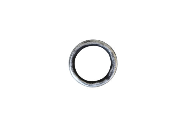 Oxidised Fine Silver Chenier Band Ring