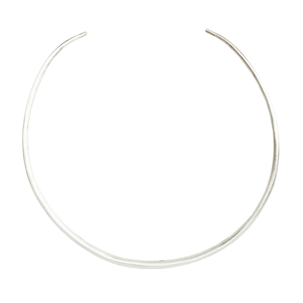 Fine Silver Choker Necklace