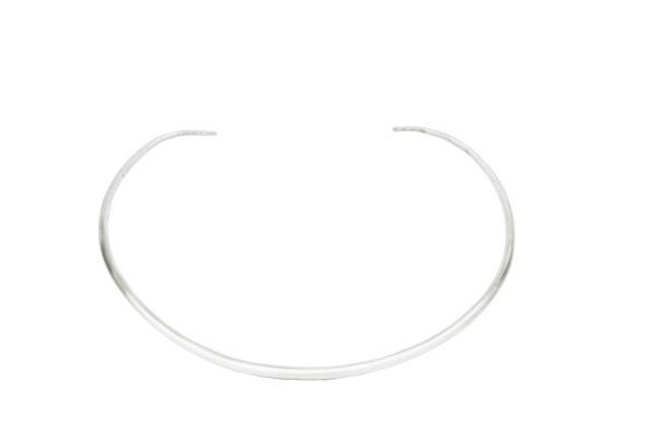 Fine Silver Choker Necklace
