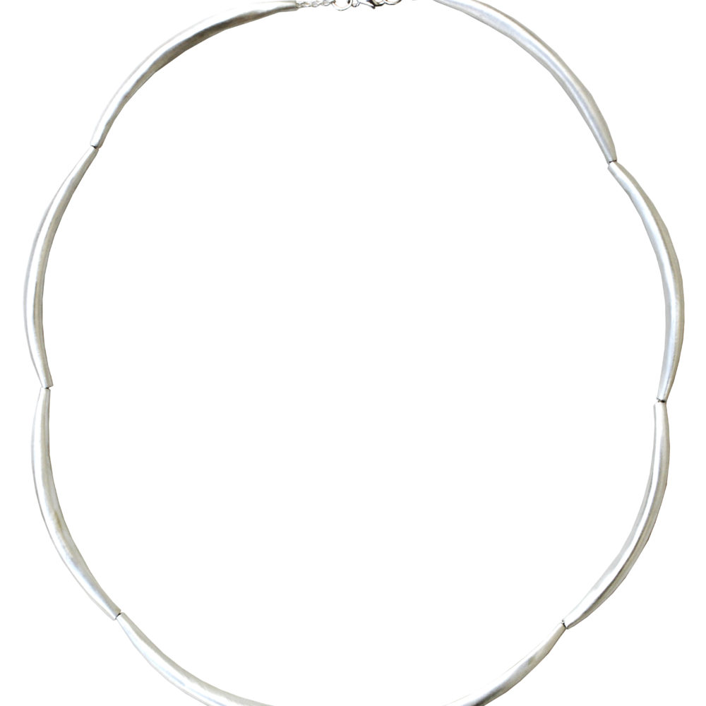 Silver spiculum necklace