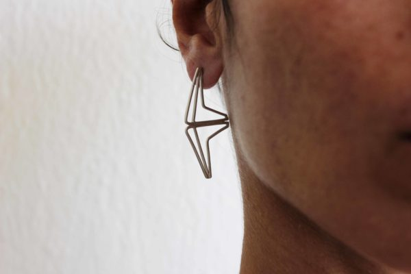 Double festival silver earrings