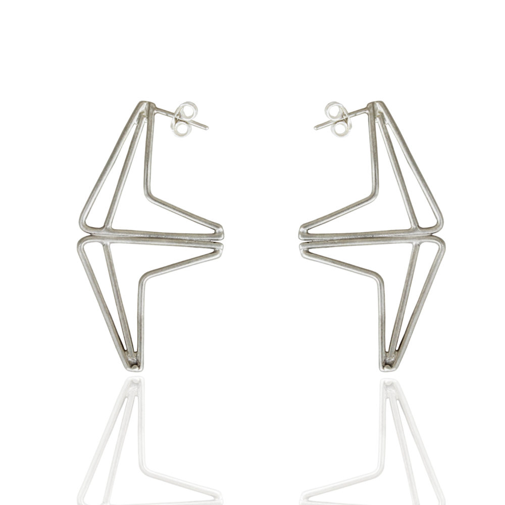 Double festival silver earrings