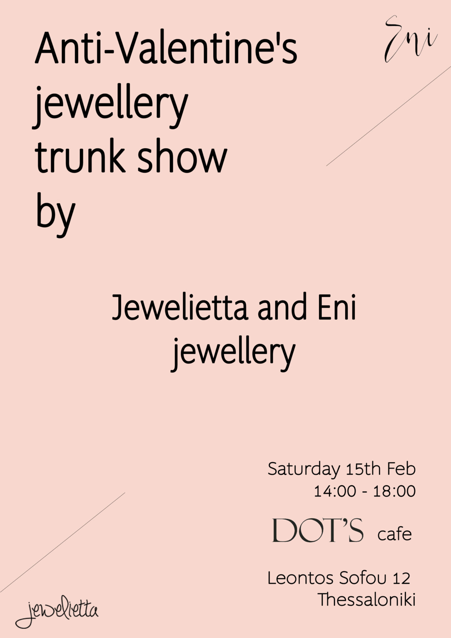 Anti-Valentines Trunk Jewellery Show